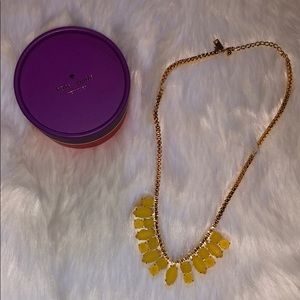 Kate Spade Yellow and Gold Necklace